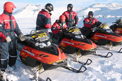 Snowmobile tours in Iceland